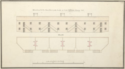 Elevation of the New Barracks built at Fort William Henry, 1756